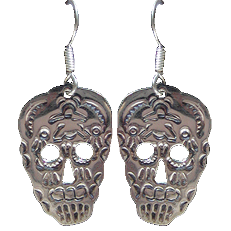 Mexican Sterling Skull Earrings