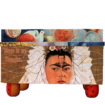 Folk Art Frida Treasure Box
