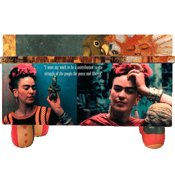 Folk Kahlo Art Frida Treasure Box