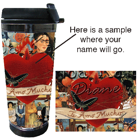 Frida Kahlo Coffee Tea Tumbler
